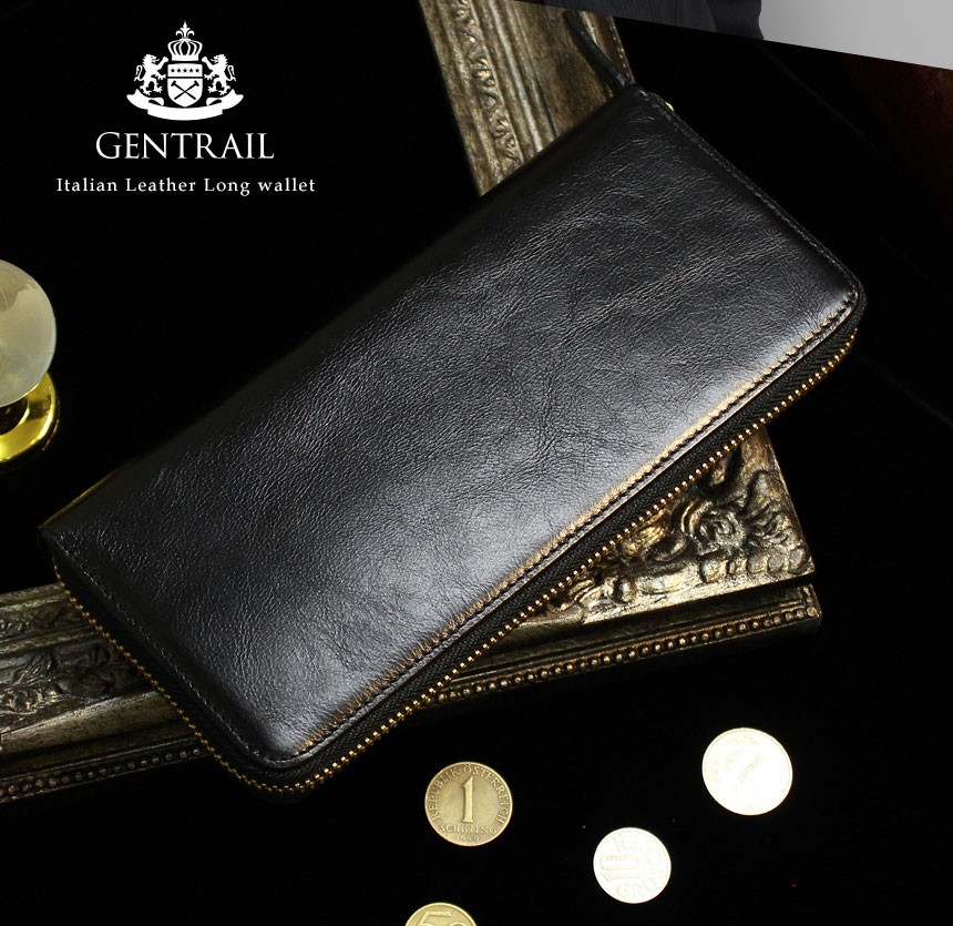 GENTRAIL(ジェントレイル)牛革多機能財布
