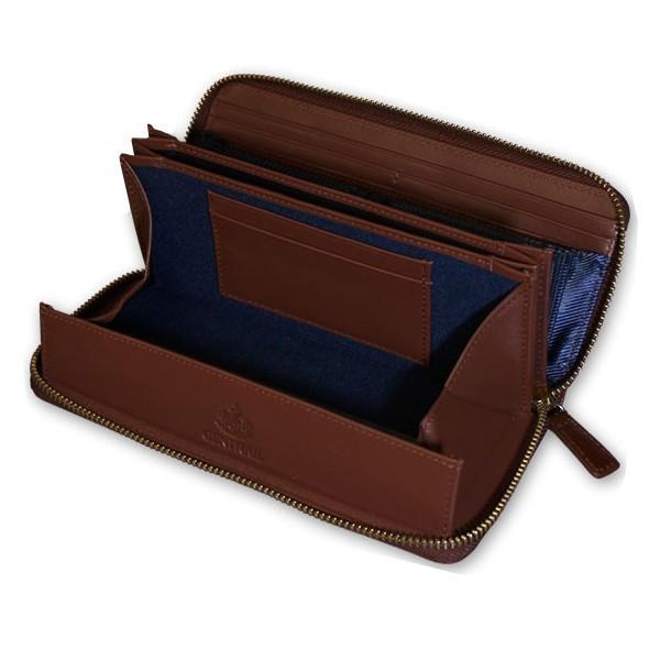 長財布 メンズ カードがたくさん入る 大容量 使いやすい ガバッと開く 本革 スリム 財布 ラウンドファスナー ジェントレイル お札が折れない ギャルソン財布|wide|22