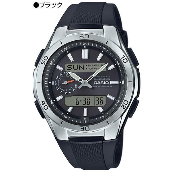 腕時計 メンズ 電波ソーラー デジアナ アナログ デジタル カシオ 軽量 軽い ラバーバンド ゴムバンド ウレタンバンド 日付|wide|11