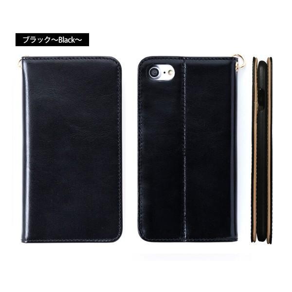 スマホケース 手帳型 iPhone8 iPhone7 本革 レザー 革 ケース おしゃれ マグネット プレゼント|wide|16