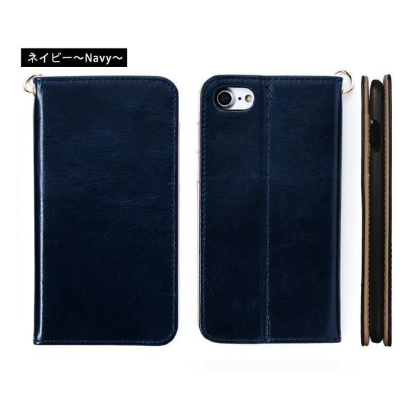 スマホケース 手帳型 iPhone8 iPhone7 本革 レザー 革 ケース おしゃれ マグネット プレゼント|wide|18