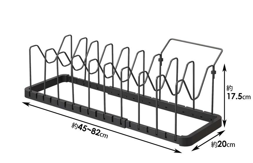 シンク下 伸縮鍋蓋&フライパンスタンド タワー