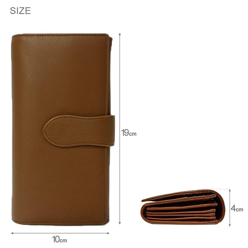 長財布 レディース やりくり財布 大容量 家計用 アコーディオン 黒 本革 ブラック キャメル