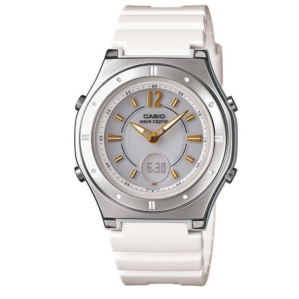 size 40 995be 427f0 腕時計 レディース 電波ソーラー ソーラー電波腕時計 女性用 2019 カシオ 軽い 軽量 25g ラバーベルト ゴム おしゃれ カシオ腕時計  アナログ かわいい