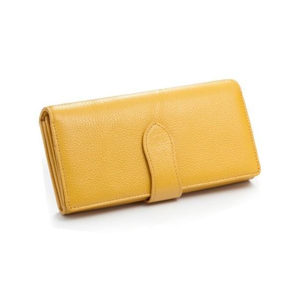 財布 レディース 長財布 大容量 多機能 女性用 革 皮 本革 仕分け 4分割 小銭入れ 仕切り やりくり財布 主婦 40代 黄色 ギフト ホワイトデープレゼントに wide02 19
