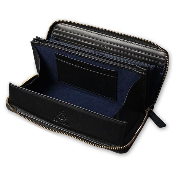 財布 長財布 ラウンドファスナー メンズ 大容量 本革 ギャルソン財布 スリム 薄型 カードがたくさん入る 使いやすい ガバッと開く 風琴マチ お札が折れない|wide02|20