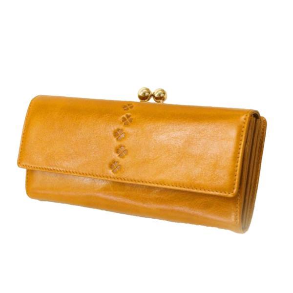 財布 レディース 長財布 がま口 がま口財布 本革 レザー 革 大容量 カードたくさん入る ギフト プレゼント 女性用 おしゃれ クローバー 革 小銭入れ|wide02|22