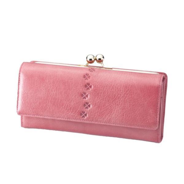 財布 レディース 長財布 がま口 がま口財布 本革 レザー 革 大容量 カードたくさん入る ギフト プレゼント 女性用 おしゃれ クローバー 革 小銭入れ|wide02|23