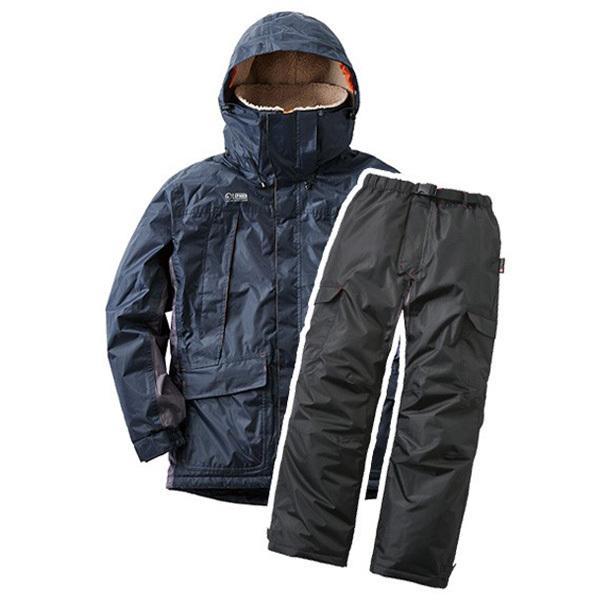 防寒着 レインウェア 上下セット メンズ 防寒スーツ 防水 現場 合羽 カッパ 釣り バイク 自転車 雨 雪 作業着 作業服 ジャケット パンツ ボア付き フード付き|wide02|09