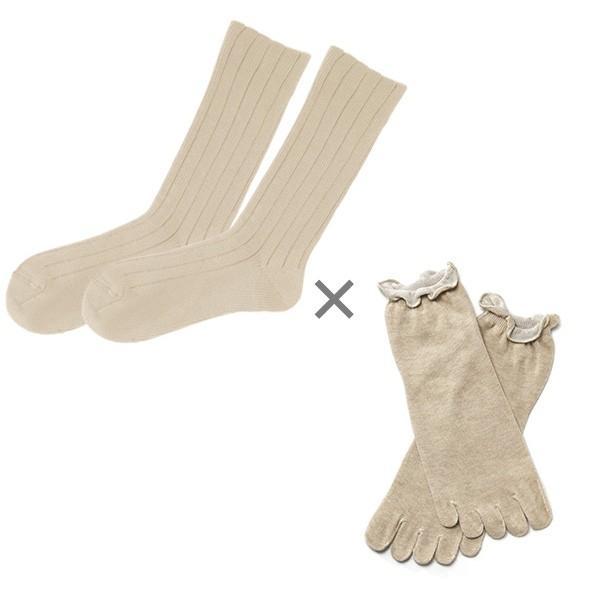 冷え取り靴下 シルク 日本製 5本指ソックス 重ねばき靴下 2枚 足首 冷え対策 冬 冷え性対策 綿 レディース 子供 保温 暖かい ギフト クリスマスプレゼント|wide02|22