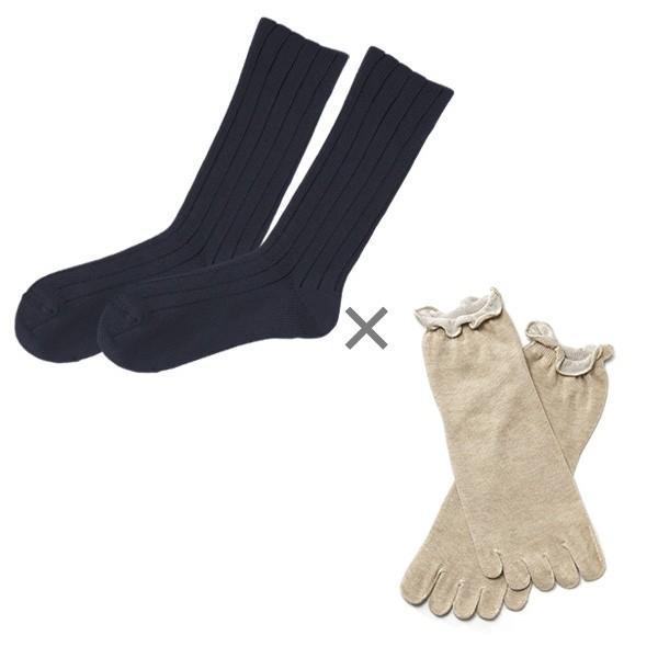 冷え取り靴下 シルク 日本製 5本指ソックス 重ねばき靴下 2枚 足首 冷え対策 冬 冷え性対策 綿 レディース 子供 保温 暖かい ギフト クリスマスプレゼント|wide02|20