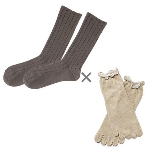 冷え取り靴下 シルク 日本製 5本指ソックス 重ねばき靴下 2枚 足首 冷え対策 冬 冷え性対策 綿 レディース 子供 保温 暖かい ギフト クリスマスプレゼント|wide02|25