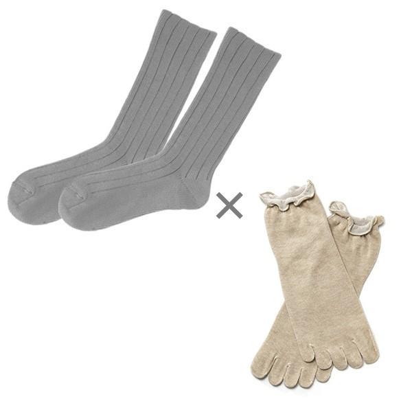 冷え取り靴下 シルク 日本製 5本指ソックス 重ねばき靴下 2枚 足首 冷え対策 冬 冷え性対策 綿 レディース 子供 保温 暖かい ギフト クリスマスプレゼント|wide02|21