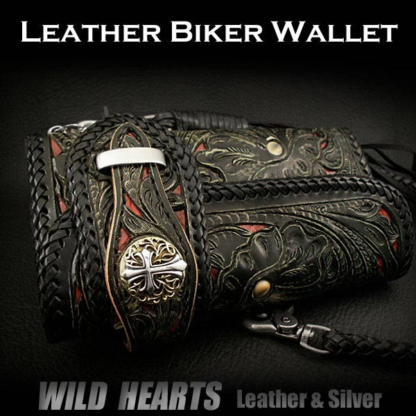 leather,biker,wallet ,wild,hearts