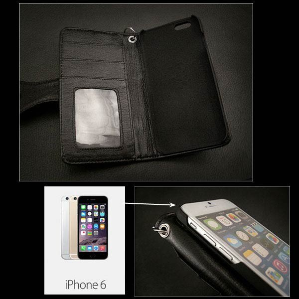 genuine,leather,iphone,6,flip,case,wallet,card,slots