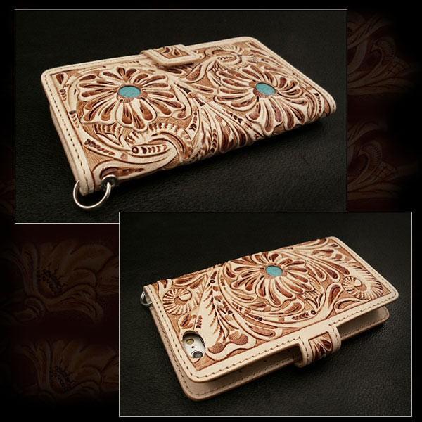 craved leather 6/6s/7flip Case custom handmade