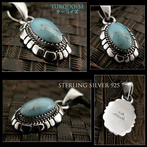 turquoise,sterling,silver,necklace,pendant,native,american,navajo