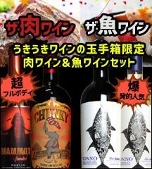 ワインセット 送料無料 うきうきワインの玉手箱限定 肉ワインと魚ワイン飲み比べセット