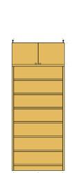 薄型壁面飾り棚