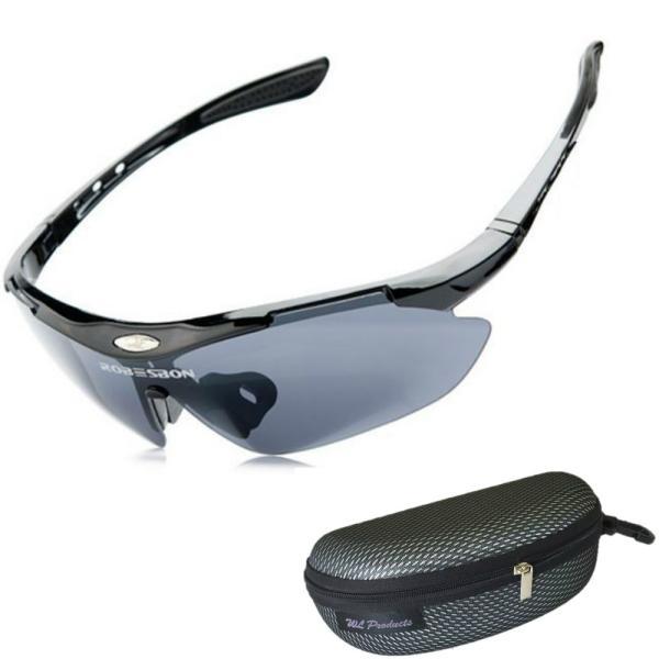軽量 スポーツサングラス 収納ケース付 4点セット 紫外線カット サングラス メンズ スキー スノボー バレンタイン にも 送料無料|wls|10