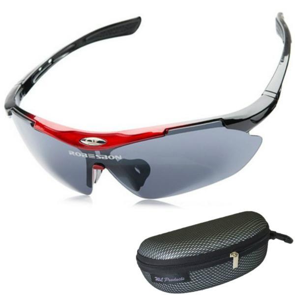 軽量 スポーツサングラス 収納ケース付 4点セット 紫外線カット サングラス メンズ スキー スノボー バレンタイン にも 送料無料|wls|12