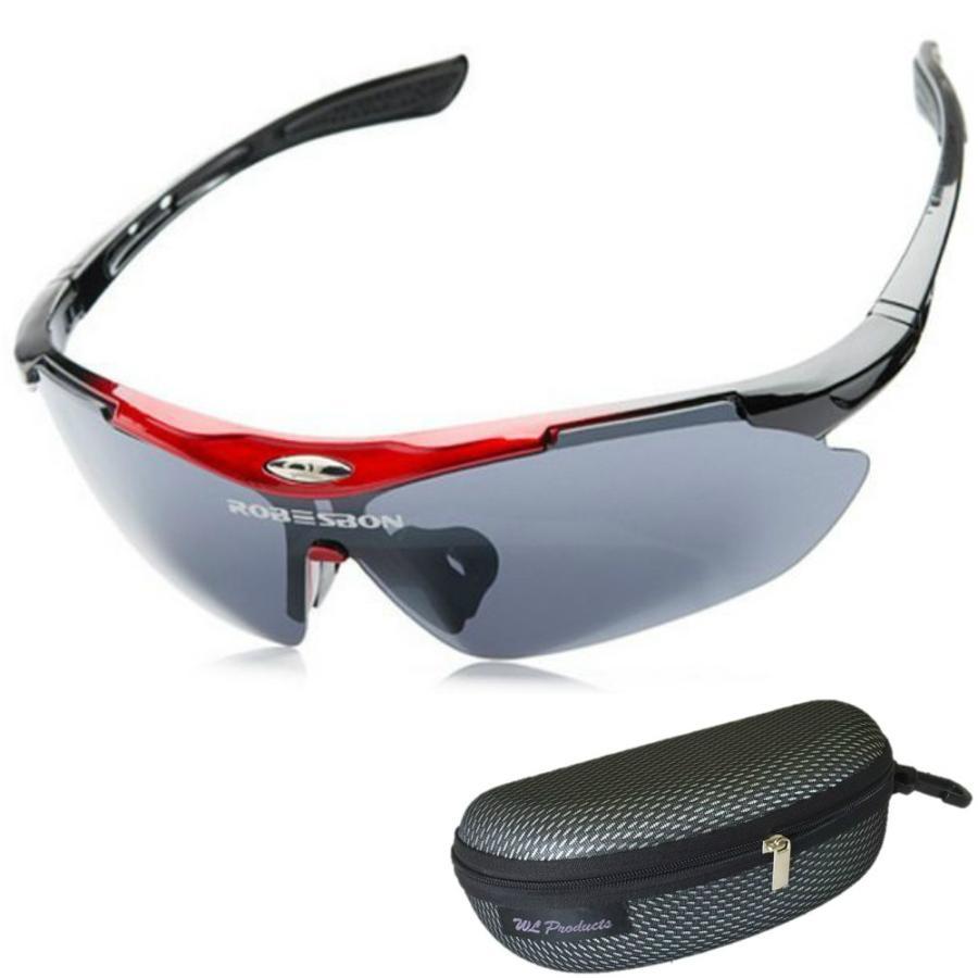 タイムセール スポーツサングラス 収納ケース付 4点セット 紫外線カット サングラス メンズ スキー スノボー バレンタイン にも 送料無料 wls 12