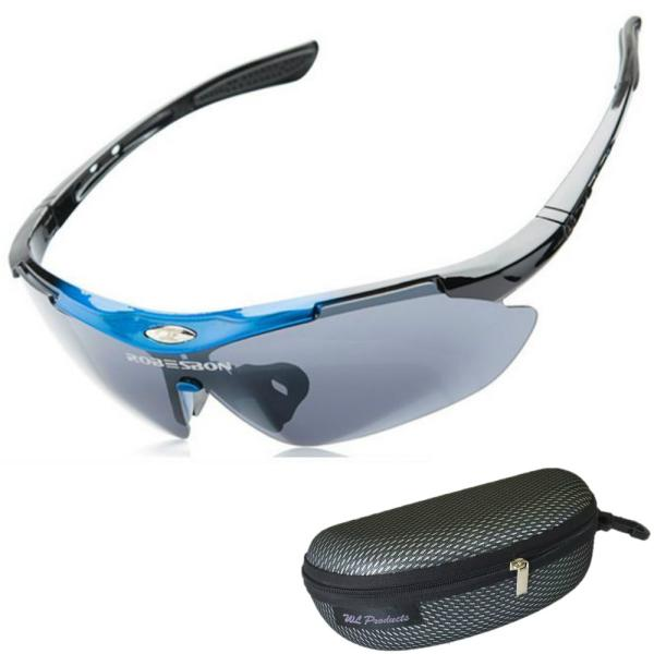 軽量 スポーツサングラス 収納ケース付 4点セット 紫外線カット サングラス メンズ スキー スノボー バレンタイン にも 送料無料|wls|11