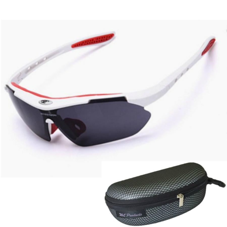 タイムセール スポーツサングラス 収納ケース付 4点セット 紫外線カット サングラス メンズ スキー スノボー バレンタイン にも 送料無料 wls 13
