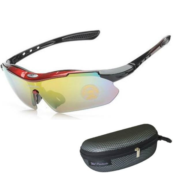 軽量 スポーツサングラス 収納ケース付 4点セット 紫外線カット サングラス メンズ スキー スノボー バレンタイン にも 送料無料|wls|16