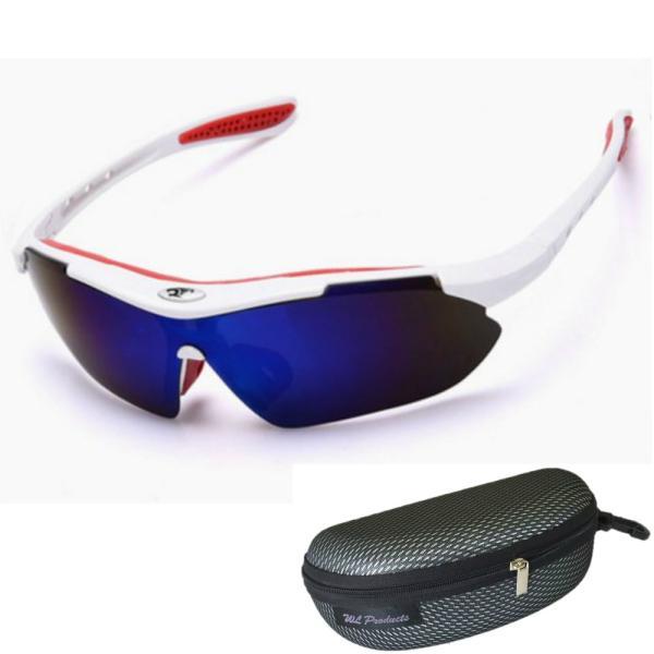 軽量 スポーツサングラス 収納ケース付 4点セット 紫外線カット サングラス メンズ スキー スノボー バレンタイン にも 送料無料|wls|17