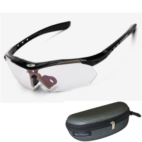 軽量 スポーツサングラス 収納ケース付 4点セット 紫外線カット サングラス メンズ スキー スノボー バレンタイン にも 送料無料|wls|22