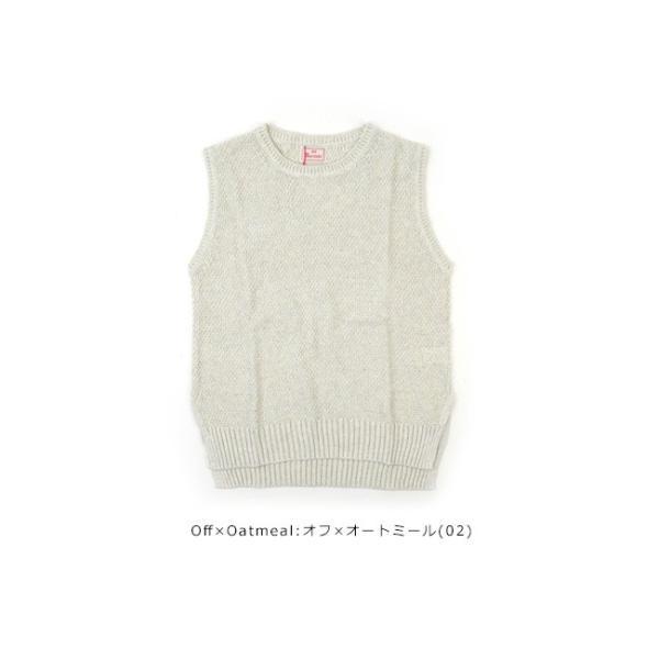 mao made (マオメイド)30/2 LINEN COTTON & 30/2 COTTON Series 綿麻ニットベスト 911131|womanremix|09