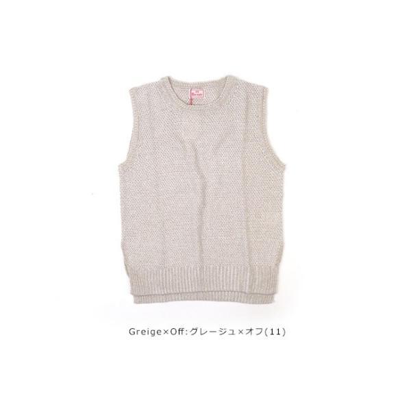 mao made (マオメイド)30/2 LINEN COTTON & 30/2 COTTON Series 綿麻ニットベスト 911131|womanremix|10
