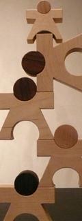 日本のおもちゃ作家 工房mapa 人形型積み木 マーパ・カーサ