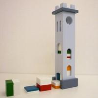 日本のおもちゃ作家 工房mapa 塔の積み木 ルッカ(Lucc)