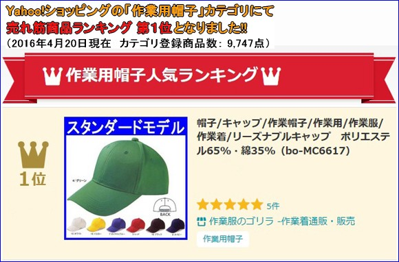 bo-MC6617 帽子(商品画像)