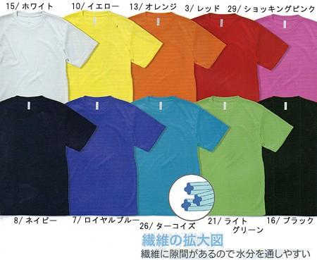 Tシャツ 半袖 作業服 作業着 インナー 通年 通気性 吸汗速乾 ポリエステル100%(bo-MS1146)(カラー)