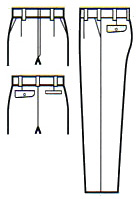 作業服 作業着 秋冬 ワンタックスラックス パンツ 大きいサイズ ポリエステル100%(ku-31098)(商品画像)