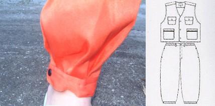 キッズ 作業服 作業着 子供用ベスト・ニッカ上下セット 子供服 鳶服 ポリエステル100%(si-077)(商品画像)