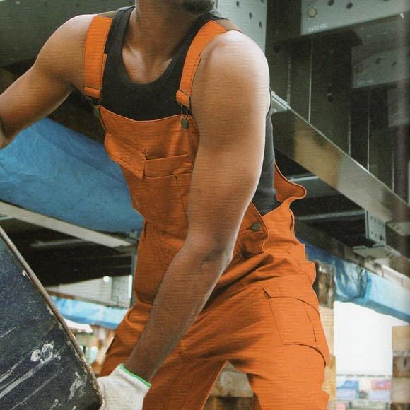 つなぎ服 ツナギ服 作業服 作業着 通年 サロペット オーバーオール ポリエステル65%・綿35%(so-29014)(商品画像)