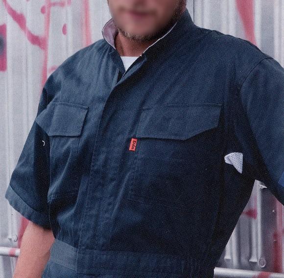 つなぎ服 ツナギ服 作業服 作業着 春夏 半袖 大きいサイズ 小さいサイズ 綿100%(y-118)(商品画像)