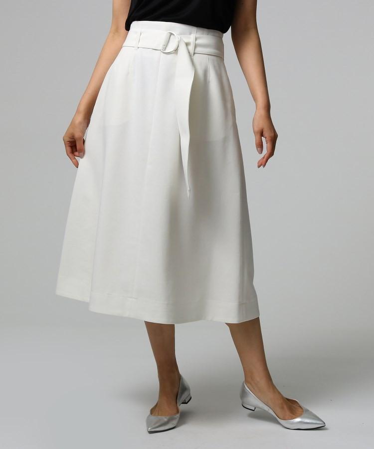 UNTITLED essential clue(アンタイトル エッセンシャルクルー)通販 ツイルストレッチスカート(ホワイト(002))