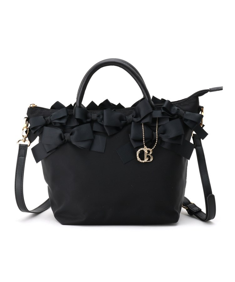 Couture Brooch(クチュールブローチ)通販|【メニーリボンシリーズ】メニーリボンナイロントート(ブラック(019))