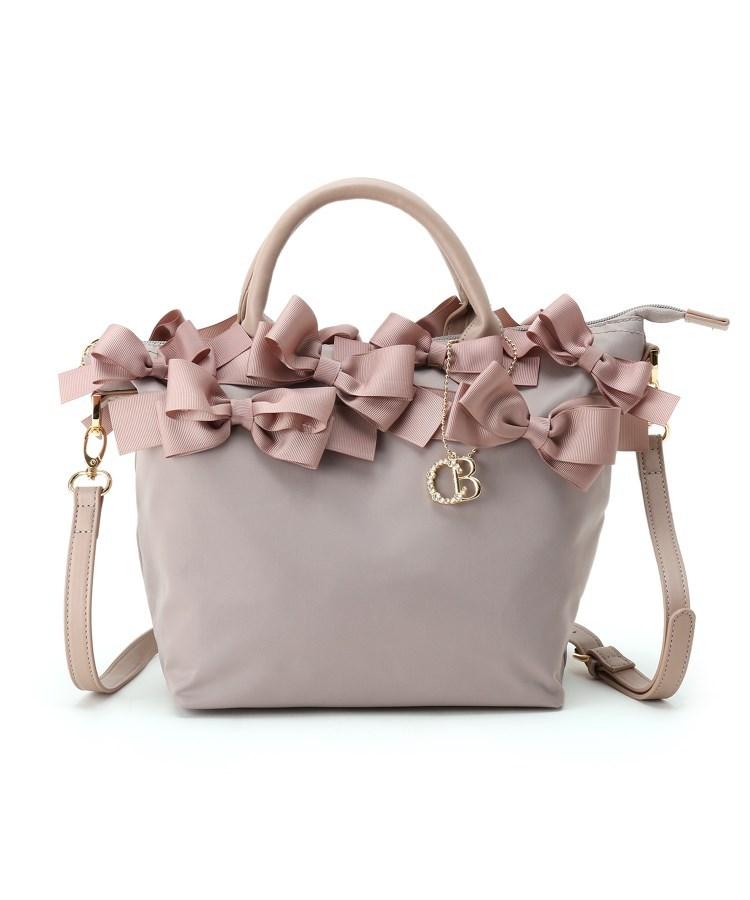 Couture Brooch(クチュールブローチ)通販|【メニーリボンシリーズ】メニーリボンナイロントート(ベビーピンク(071))