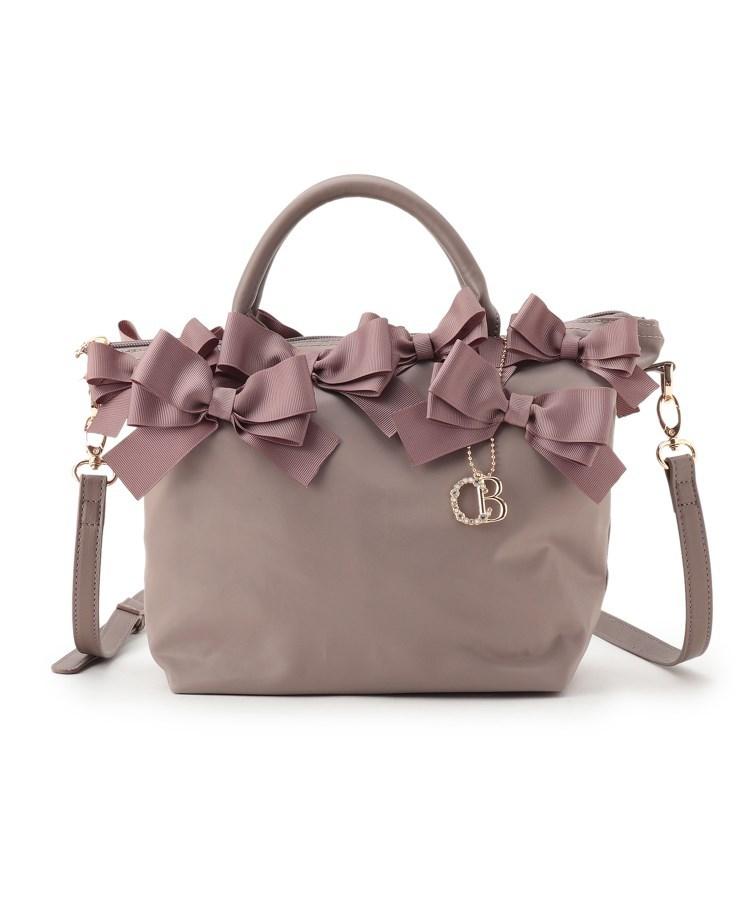 Couture Brooch(クチュールブローチ)通販|【メニーリボンシリーズ】メニーリボンナイロントート(サンドベージュ(053))