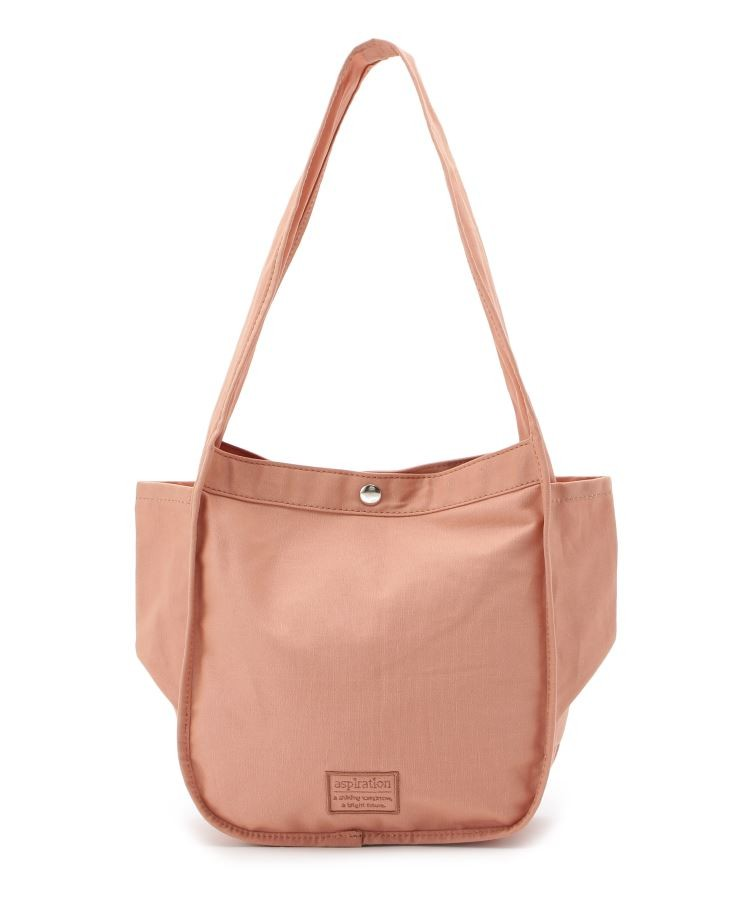 pink adobe(ピンクアドベ)通販 <2WAY>ロゴ刺繍キャンバストート(ベビーピンク(071))