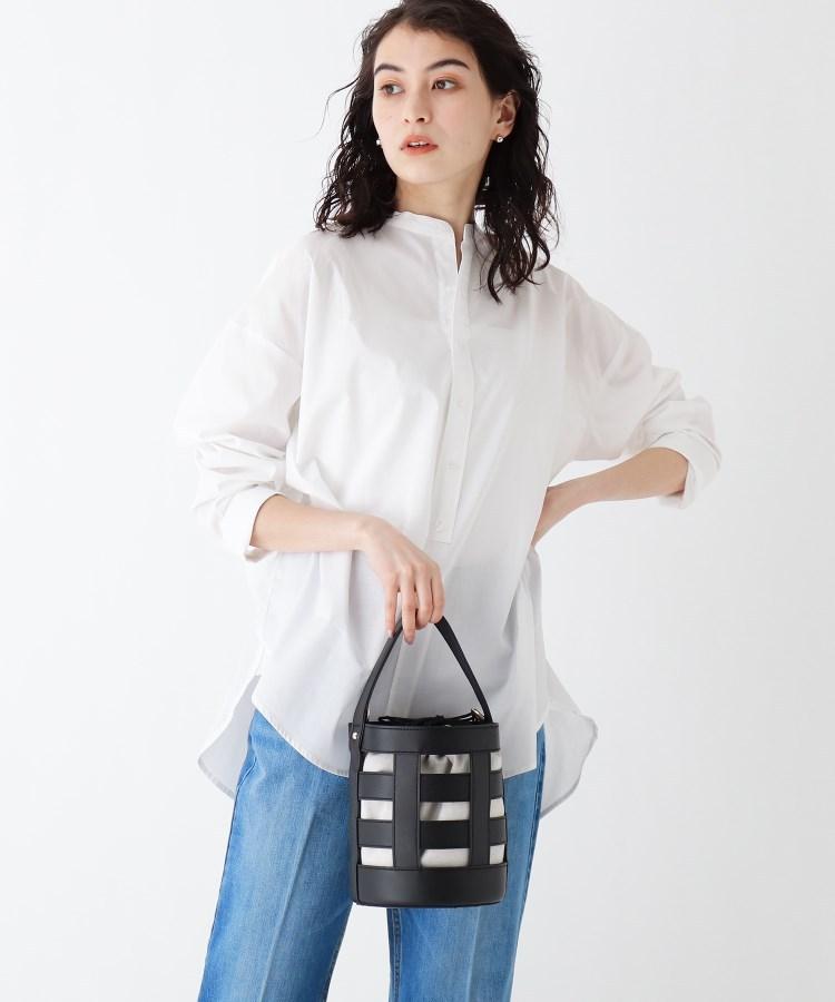 OPAQUE.CLIP(オペークドットクリップ)通販|巾着付きハシゴメッシュバケツトート(ブラック(019))