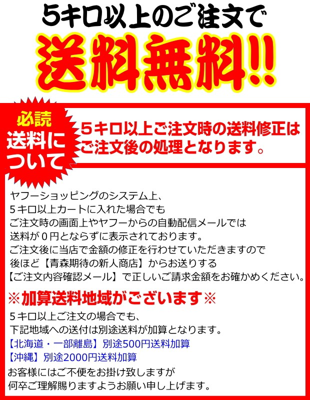 青森県産にんにく 5キロ送料無料