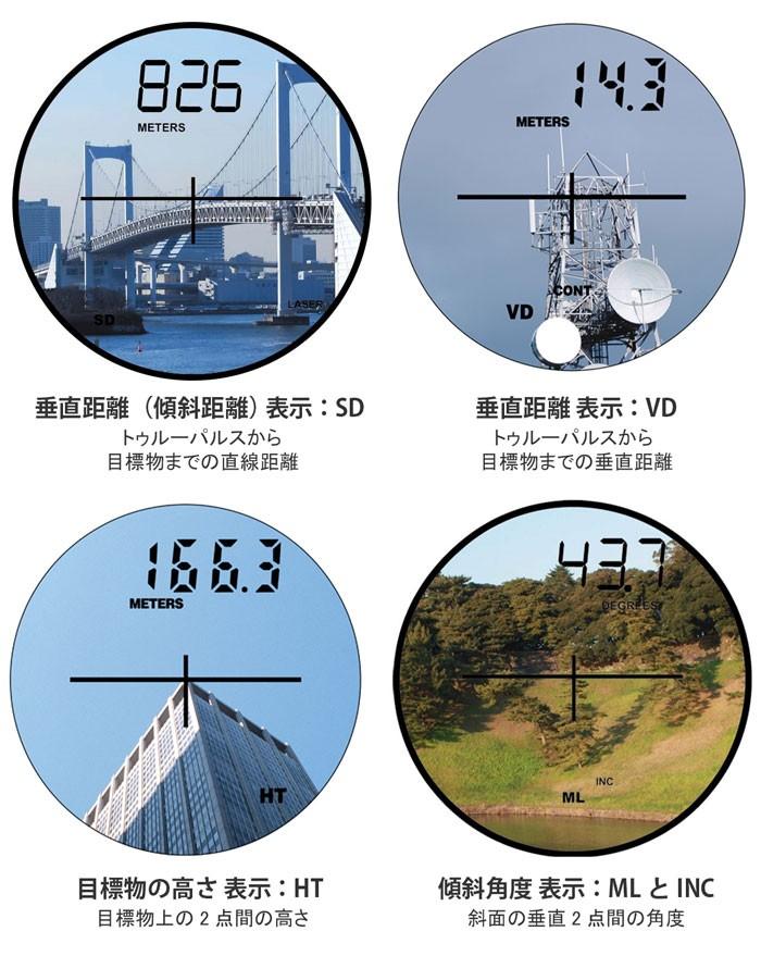 レーザー距離測定器 トゥルーパルス 直線 垂直 水平距離 傾斜角度 高さ斜面の長さ 奥行き 角度 高低差 距離測定器