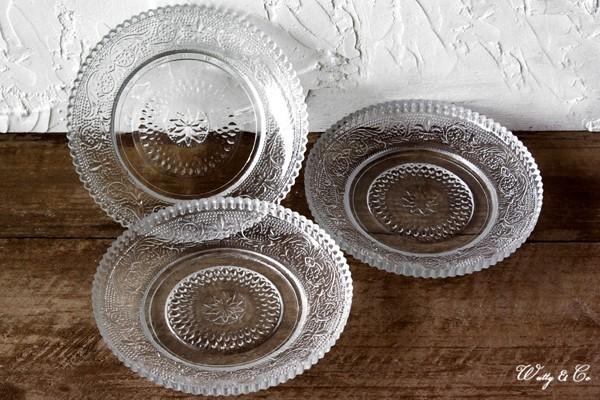 アンティーク調ガラス小皿